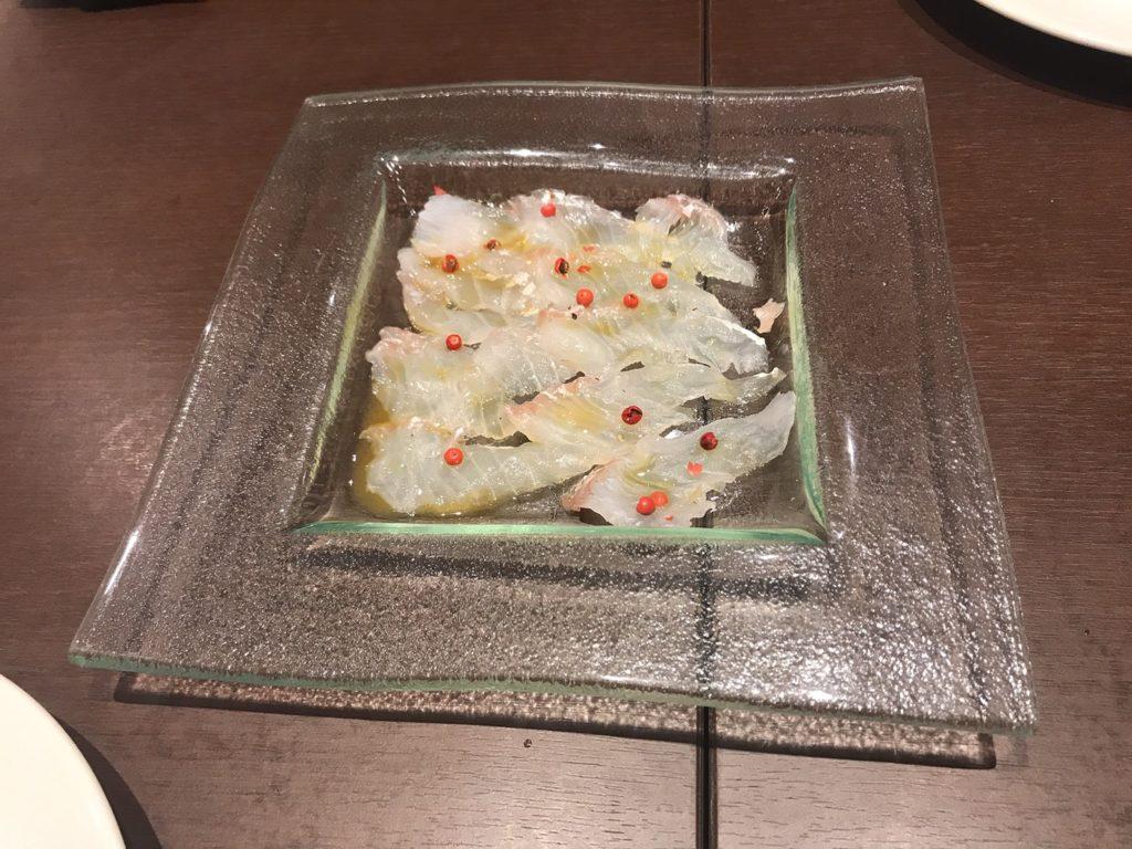 青葉台Grill Cお魚のカルパッチョ